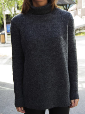 VIPLACE ROLLNECK KNIT TOP DGM 1