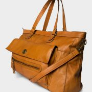 17055349PCTOTALLY ROYAL LEATHER TRAVEL BAG NOOS Cognac
