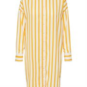 16067645SLFDORIT TONIA LS AOP SHORT SHIRTDRESS B Radiant Yellow